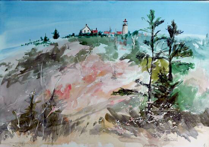 """Monhegan September""WC on Arches 140# hot press20x14 unmatted, unframedJohn Turchin Art Gallery"
