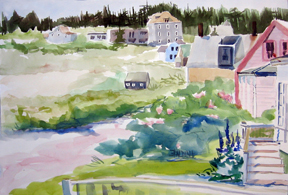 """Carina, Monhegan ""WC on Arches 140# HP20x14 unmatted, unframedAVAILABLE FOR YOUR COLLECTION"