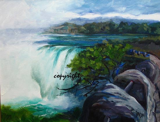 Niagara Falls Collection Of Paintings En Plein Air By