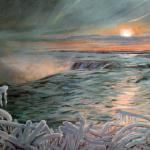 "J. R. Baldini ___ "" NIAGARA SUNRISE "" ___ 9x12 oil on panel ___ Sold"