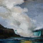 "J. R. Baldini ___ "" OVERCAST DAY NIAGARA "" ___ 12x12 Oil on linen ___ SOLD"