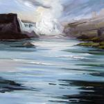 "J.R. Baldini ___ "" CANADIAN HORSESHOE  FALLS "" ___ 24 x 24 Oil on canvas"