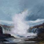 "J.R. Baldini ___ "" NIAGARA SPRING "" ___   6x6 Oil on canvas"