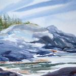 "J. R. Baldini ""Christmas Cove, Maine"" Watercolor 140# HP"