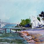 "J. R. Baldini ""Marina"" ___ 9 x 12 Watercolor 140# rough"