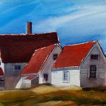 "J. R. Baldini __ "" Light House "" ___ 14 x 20 watercolor #140 Rough ___ Sold #watercolorpainting #jrbaldiniartist"