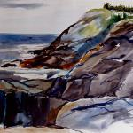"J R Baldini  __ "" Pulpit Rock ""   __ 14 x 20 watercolor __ not returned by a gallery - if you should see this piece somewhere, please let me know...thanks"