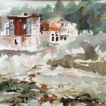 "J R Baldini  __ "" Old Forge, NY""   __ 14 x 20 watercolor __"
