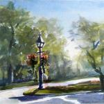 "J.R. Baldini ""Queen St. Niagara on the Lake"" Watercolor 140# HP      .Sold"