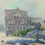 "J.R. Baldini_ ""Island Afternoon""_ 14 x 20 piece unmatted, unframed _ Watercolor 140# HP Famed and matted to 20 x 24 """